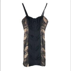 Buffalo David bitton black nude lace dress medium